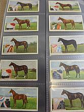 An album of racing theme cigarette cards