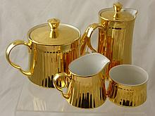 A Part Royal Worcester Tea Set, comprising Gilded
