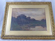 Joseph Knight 1837-1909 Original Water Colour, dep