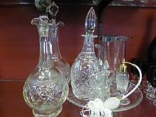 Quantity of Cut Glass, including a pair of decante