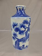 A Chinese Qing Dynasty Blue and White Hand Painted