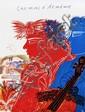 FASSIANOS Alexandre né en 1935  Lithographie  chemin d'Arménie signée dans la planche 68x51,5cm