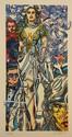 ERRO Gudmundur né en 1932  Lithographie encadrée numérotée 30/199, signée 91x50cm