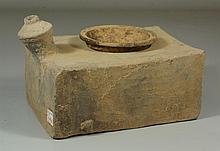 Chinese Han style pottery stove, with cup,7