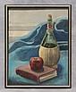 James Macklin, American, DE, 20th c, o/canvas board, tabletop still life, 18