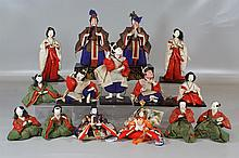 (15) Japanese Hina dolls; tallest is approx. 11