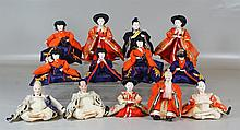 (13) Japanese Hina dolls; tallest is approx. 8