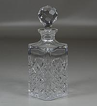 Crystal decanter marked Tiffany & Co, 10 1/4