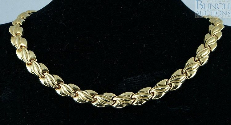 14K YG necklace, Italy, 18.3 dwt, 5 1/4
