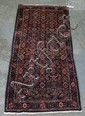 Persian Carpet, blue field with overall design, 3'4