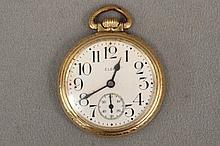 Elgin 10K Gold filled Men's Pocket Watch