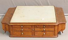 Antique Oak Table Top Dental Side Cabinet