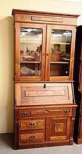 19th Century Walnut 2 part Secretary Bookcase