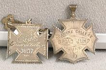 Two Sterling Silver Medals won by A.J. Francis 1897