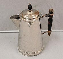 Mid 1800's Wooden Handle Coffee Pot belonging to Miles Francis