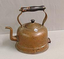 Copper Tea Pot with Wooden Handle