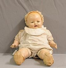 Early Composition Doll with posed legs and arms - marked