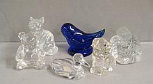 Six pieces of Fenton American figurines