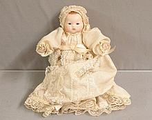 German Doll marked A.M. 1920's Dream Baby in original Dress