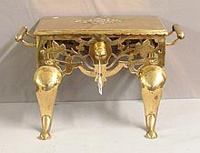 Brass Fireside Coal Bucket Stand