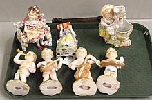 Seven various size Porcelain Statues