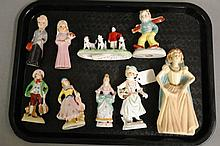 Early Porcelain Statues - 9 in various sizes