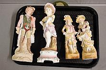 Four Porcelain Statues