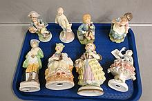 Eight various size Porcelain Statues