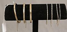 Seven Sterling Silver Bracelets
