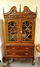 Two piece very ornate China Cabinet