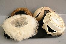 Four 1920-30 Ladies Dress Hats