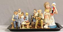 Five Statues: 4 Norman Rockwell and 1 Viletta