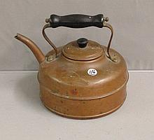Civil War era Copper Tea Kettle with original wooden handle and lid
