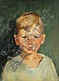 Margery Austen Ryerson (American, 1886-1936) Brown eyed boy 16 x 12in