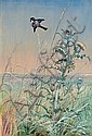 Fidelia Bridges (American, 1834-1924) Chickadee and Thistle, 1875 14 x 9 1/2in, Fidelia Bridges, Click for value