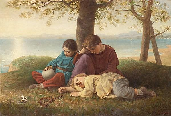 Charles Lucy (British, 1814-1873) Noontide repose 33 x 48 1/4in (83.8 x 122.5cm)