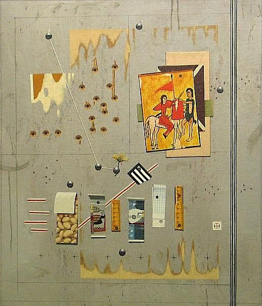 Kennard M. Harris (American, born 1930) Thumbtacks 28 x 24in