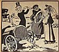 Louis M Glackens (1866-1933); two Puck motoring illustrations,, Louis M Glackens, Click for value