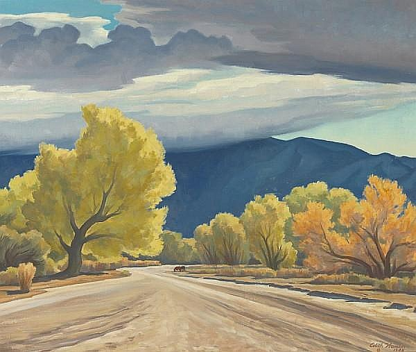 Edith Anne Hamlin (American, 1902-1992) Cottonwoods of the Rillito, 1948 25 x 30in