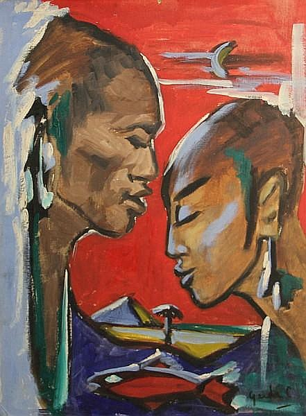 Gerda Christoffersen (Canadian) Encounter 24 x 18in