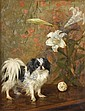 Frances C. Fairman (British, 1836-1923) Japanese Chin on a table 21 1/2 x 16 1/2in (54.6 x 41.8cm), Frances C. Fairman, Click for value