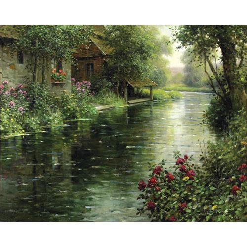Louis Aston Knight River Landscape Oil