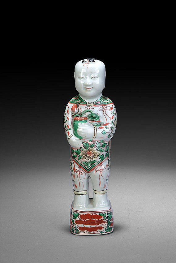 A SANCAI GLAZED BOY