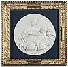 Bassorilievo circolare in gesso raffigurante Madonna con Bambino e San Giovannino, XX secolo