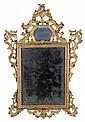 Specchiera Luigi XIV in legno intagliato e dorato, XVIII secolo