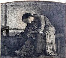 Mawell Gordon Lightfoot (1886-1911) - Charcoal and wash study -