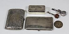 A German silvery metal rectangular card case of plain design