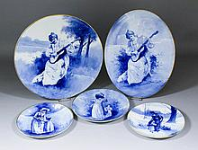 Four pieces of Royal Doulton pottery