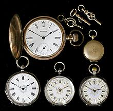 An Edward VII lady's silver cased lever pocket watch