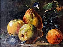George Walter Harris (fl. 1864-1893) - Oil painting - Still life of apples